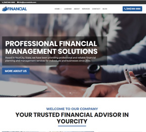 Financial Advisor Website wordpress Free Installation To Your Hosting