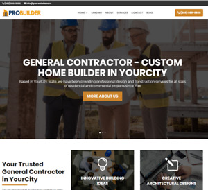 General Contractor Website wordpress Free Installation To Your Hosting