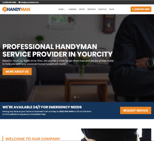 Handyman Business Website wordpress Free Installation To Your Hosting