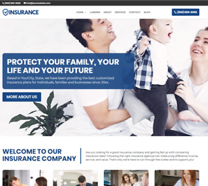 Insurance Agency Website wordpress Free Installation To Your Hosting