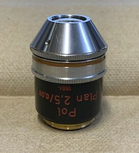 Zeiss Plan 2 5x 0 08 Pol Polarizing Microscope Objective 160mm