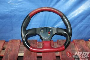 94 01 Integra Dc2 Itr Type R Red Black Steering Wheel W Lanzo Horn Jdm B18c