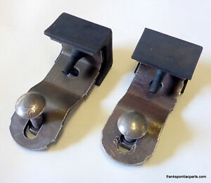 1969 Bonneville Front Bumper Upper Support Brackets With Rubber Isolators 69