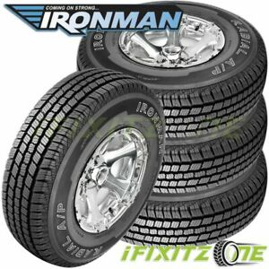 4 New Ironman Radial A P 245 65r17 107t Owl All Season Tires For Van Suv Cuv