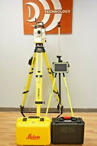 Leica Icr80 R1000 5 Sec Robotic Total Station W Cs35 Tablet Icon Software