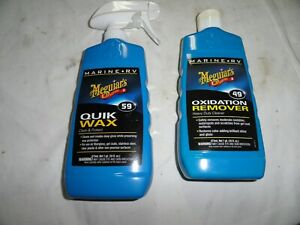 Meguiars Marine Quick Wax 59 And 49 Oxidation Remover