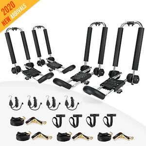 Foldable Carrier Kayak 2 Pair J Bar Roof Top Mount Rack For Caneo Suv Car Truck