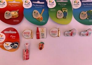 Coca Cola PIN RIO 2016 BRAZIL OLYMPIC GAMES OFFICIAL 12 PINS LIMITED
