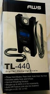 Aws Tl 440 Digital Hanging Scale W Hooks 440lbs X 0 5lb Auto Off Feature new