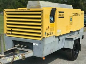 2010 Atlas Copco Xas750 Portable Diesel Air Compressor S Hop080428