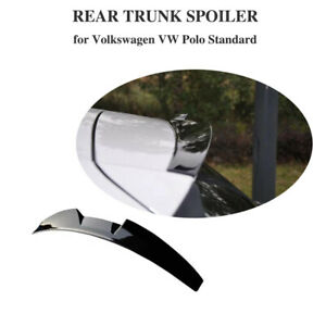 Fit For Volkswagen Vw Polo 2011 2018 Rear Roof Spoiler Trunk Wing Glossy Black
