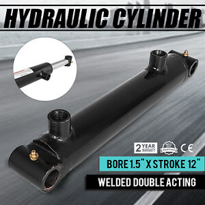 Hydraulic Cylinder 1 5 Bore 12 Stroke Double Acting Sae 6 3000 Psi Suitable