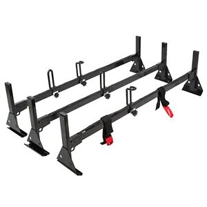 3 Full Size Van Bar Ladder Roof Racks Enhanced Steel For 1996 Up Chevy Express