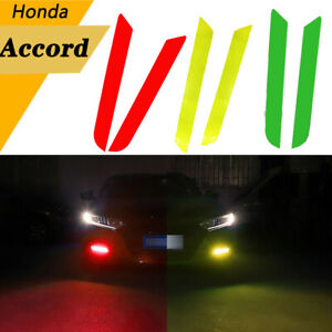 Fog Light Front Overlay Tint Reflective Decal Sticker For Honda Accord 2 color