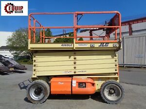 2012 Jlg 4069le 40 Ft Electric Man Aerial Boom Scissor Lift