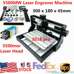 3 Axis Cnc 3018pro Diy Router Wood Engraving Milling 5500mw Laser 10000r min
