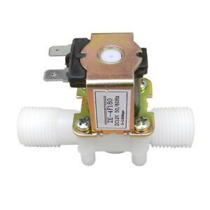 12v 1 2 Plastic Electric Solenoid Valve Magnetic Water Air N c Normally Closed