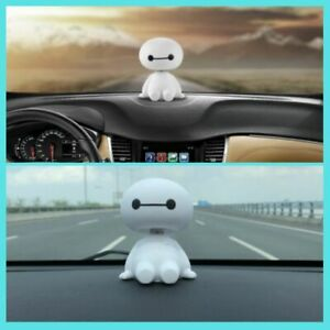 Baymax Robot Toys Shaking Head Figure Big Hero Doll Car Ornament Accessories