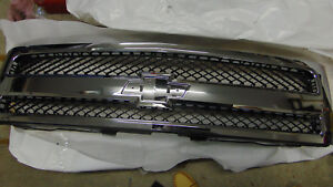 Chrome Grill Assembly For 2007 2013 Chevrolet Silverado 1500 Grille Nib