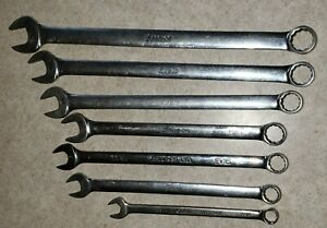 Snap On 7 Pcs Extra Long Combination Wrench Set