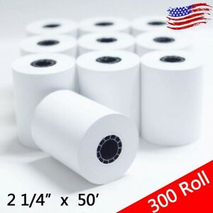 300 Rolls 2 1 4 X 50 Thermal Receipt Paper For Cash Register Pos Credit Card