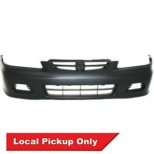 Front Bumper Cover For 2001 2002 Honda Accord Coupe W Fog Light Holes Ho1000195