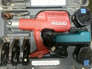 Ridgid Compact 100b Porpress Copper Crimper Set 100b W Oem 3 Jaws 1 2 3 4
