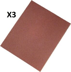 Auto Body Sand Paper 9 X 11 Grit 40 Rust Removal 3 Sheets