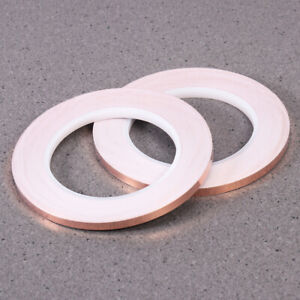 2pcs Copper Foil Tape With Conductive Adhesive For Art Work Soldering 30m X 6mm