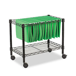 Alera Single tier Rolling File Cart 24w X 14d X 21h Black Fw601424bl