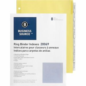 Business Source Binder Indexes 1 2 Tabs 11 x8 1 2 8 Tab 50st bx Cl 20069bx