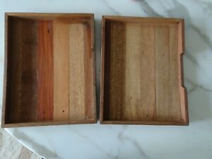 2 Pottery Barn Recycled Office Desk Storage Tray Holder Small 9 X 11 1 2 New