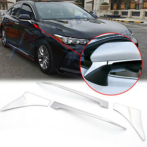 Chrome Rearview Side Mirror Under Molding Cover Trims For Toyota Camry 2018 2020