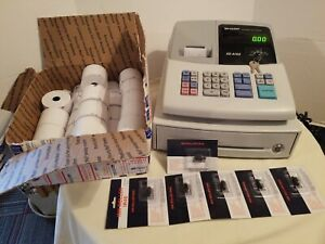 Sharp Electronic Cash Register Xe a102 Preowned Condition W Keys