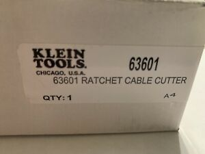 Klein Tools 63601 Compact Ratcheting Cable Cutter New