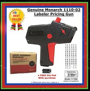 Genuine Brand New Monarch 1110 02 Price Gun Labeler
