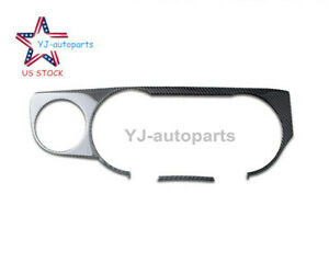 Carbon Fiber Interior Dashboard Frame Trim Cover Fit For Ford Mustang 2009 2013