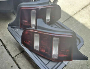 Pair 2010 2012 Ford Mustang Taillight Tail Light Lamp Oem Tinted