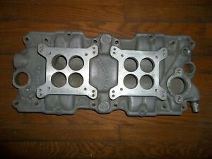Chevy 348 Offenhauser 2 X 4 Intake 5492 With Carbs Including 3923s Carter Afb
