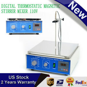 10l Digital Thermostatic Magnetic Stirrer Mixer With Hotplate Heating 0 1250 Rpm