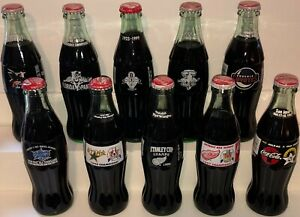 Coca-Cola National Hockey League NHL Stanley Cup All Star Ten 10 Coke Bottle Lot