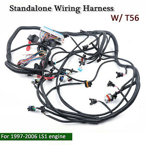 New 1997 2006 Dbc Ls1 Standalone Wiring Harness With T56 Or Non electric Trans