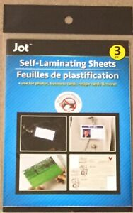 New 3pc Self Laminating Sheets Photos Recipe Business Cards Etc