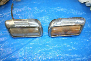 1946 1947 1948 Mercury Parking Front Lights Directionals Pair Oem
