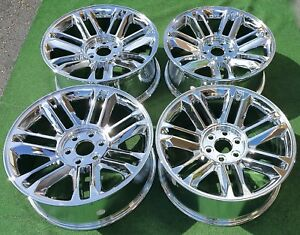 Cadillac Escalade Platinum Chrome Wheels 22 Inch Set Of 4 New Oem Factory Style