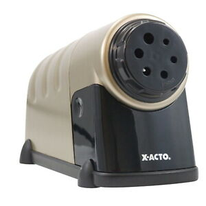 X acto Heavy Duty Electric Pencil Sharpener With Auto Shut Off Beige dark Gray