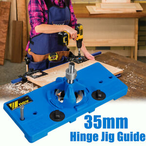 35mm Concealed Hinge Jig Drill Guide Cabinet Door Hole Boring Locator Woodwork