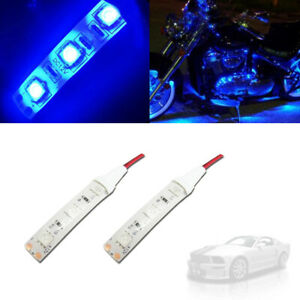 Ultra Blue Led 5050 Smd Strip Lights Interior Exterior For Car Motorcycles Diy