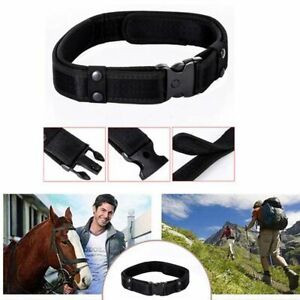 Police Safety Tactical Combat Gear Black Utility Nylon Duty Belt Outdoor Black