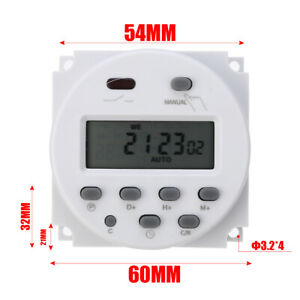 16a Cn101a Lcd Digital Timer Programmable Control Ac dc 12v Time Switch Relay